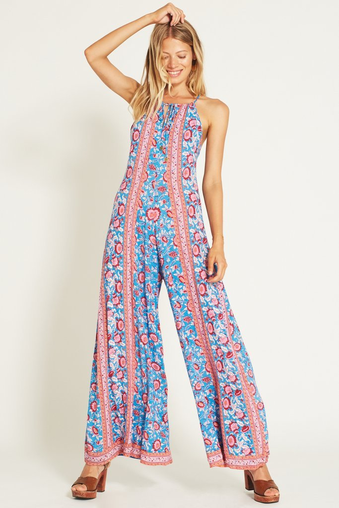 Arnhem Primrose Long Jumpsuit Blue