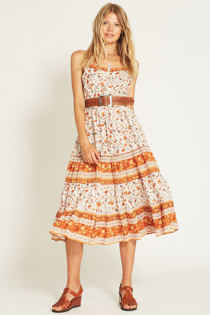 Arnhem Bloom Sundress Orange Blossom