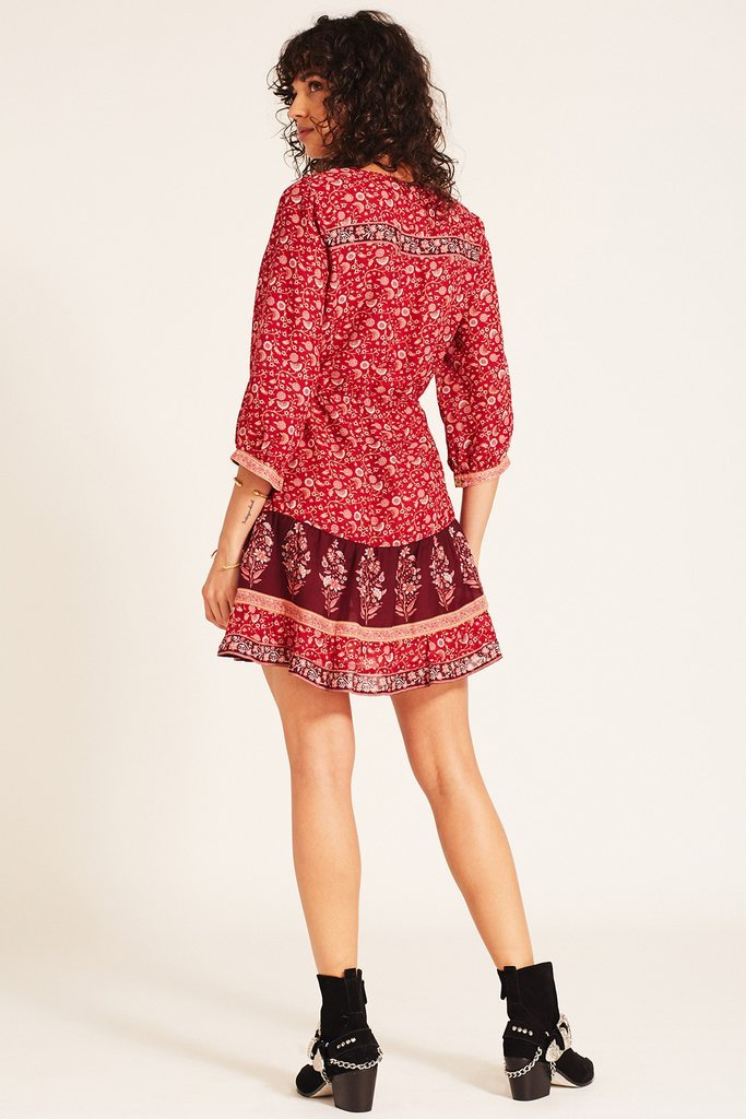 Arnhem Wisteria Mini Dress Crimson