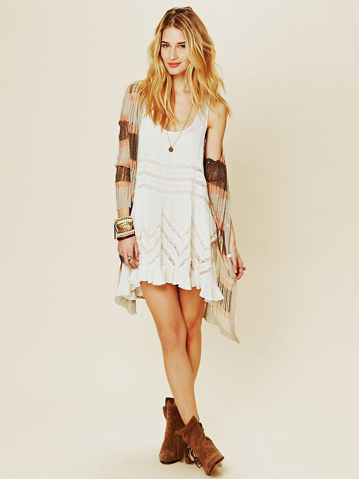 Free People Lace Trapeze Slip Tea Combo - Call Me The Breeze - 5