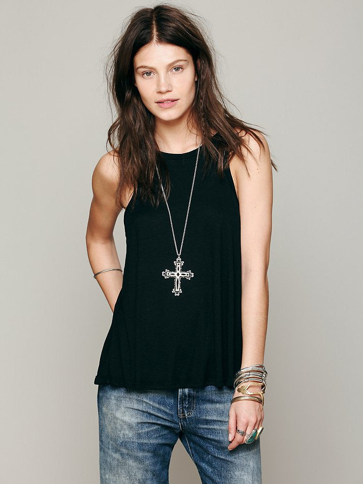 Free People Long Beach Tank Black - Call Me The Breeze - 2