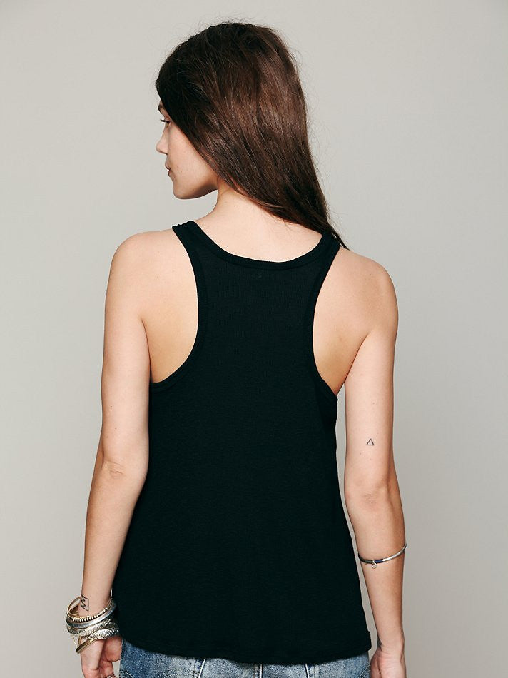 Free People Long Beach Tank Black - Call Me The Breeze - 3