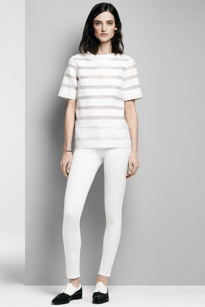 J Brand Mid Rise Skinny Leg in Blanc - Call Me The Breeze - 3