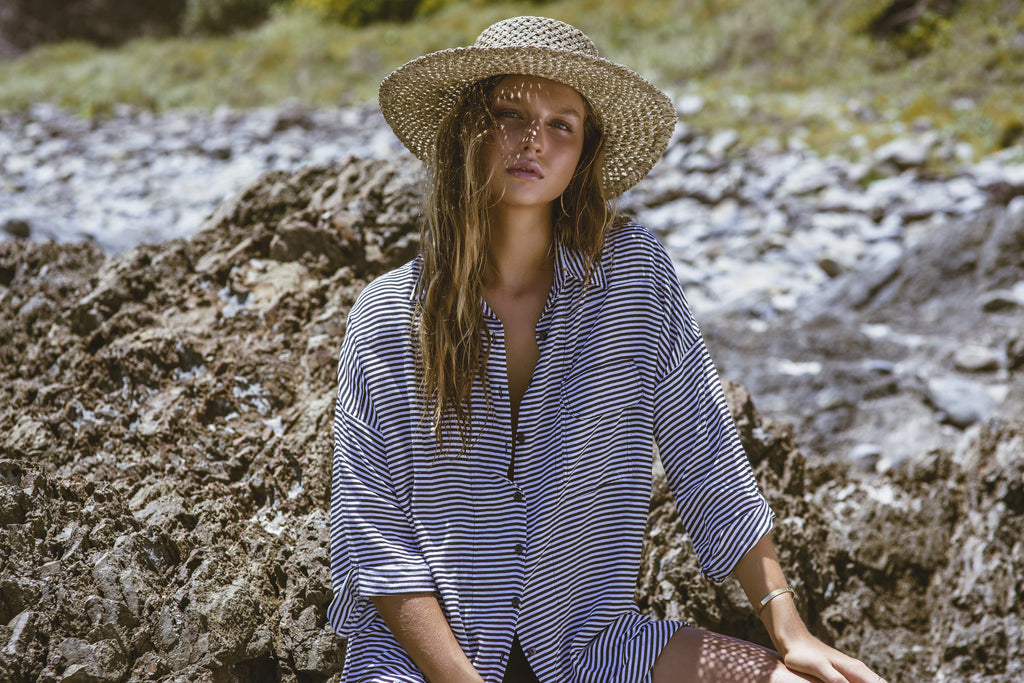 The Bare Road Shirt Dress Tilly Black Stripe - Call Me The Breeze - 2