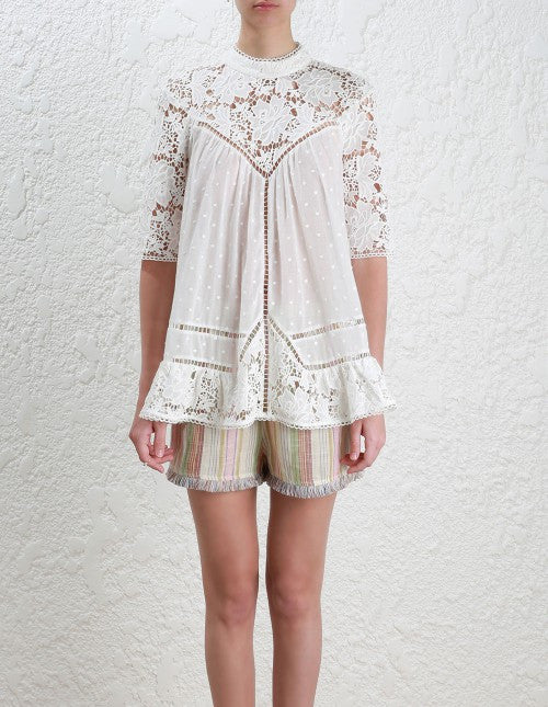 Zimmermann caravan Embroidered Smock Top - Call Me The Breeze - 3