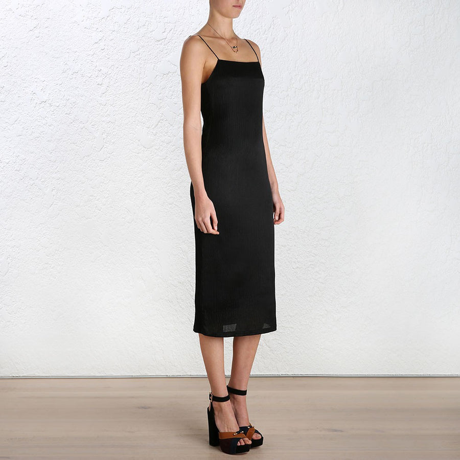 Zimmermann Rhythm Scrunch Slip Dress Black - Call Me The Breeze - 2
