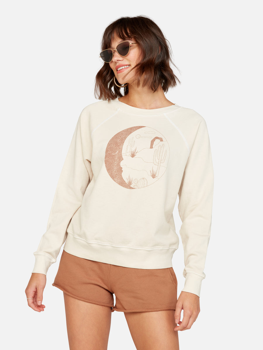 Mate Moon Landscape Vintage Graphic Pullover