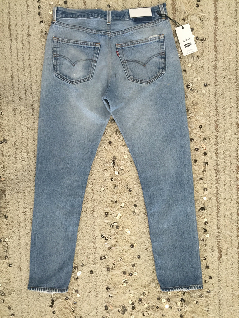 Re/Done High Rise Jean Size 30 - Call Me The Breeze - 3