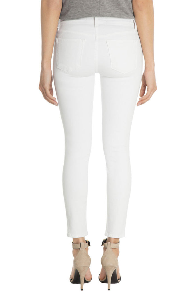 J Brand Mid Rise Capri in Blanc - Call Me The Breeze - 2