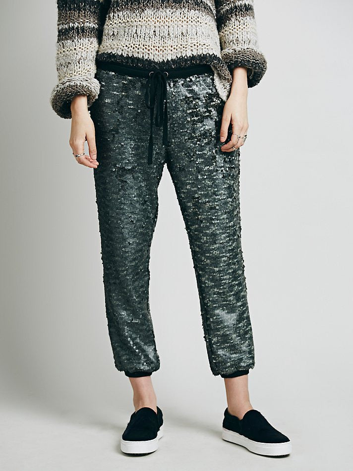 Free People Sequin Jogger - Call Me The Breeze - 2