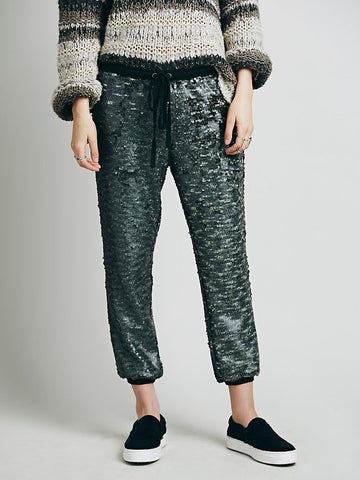 Free People Sequin Jogger - Call Me The Breeze