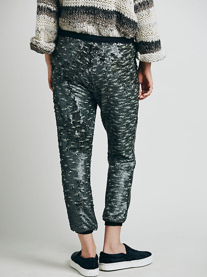 Free People Sequin Jogger - Call Me The Breeze - 3