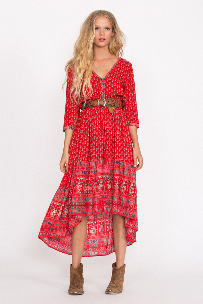 Spell Gypsiana Maxi Dress Red Bandana - Call Me The Breeze - 4