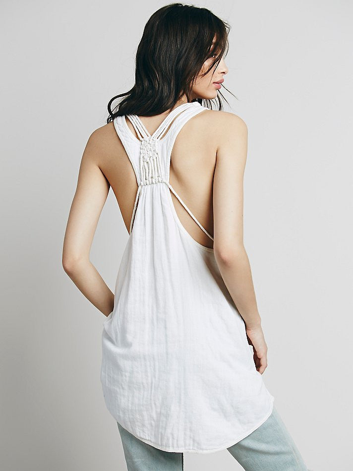 Free People One and Only Tank Ivory - Call Me The Breeze