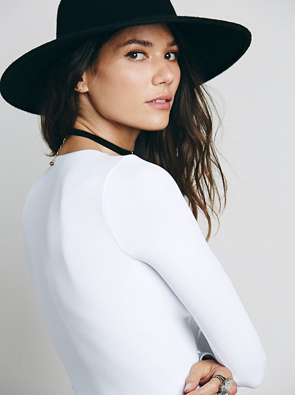 Free People Lace Up Layering Top White - Call Me The Breeze - 5