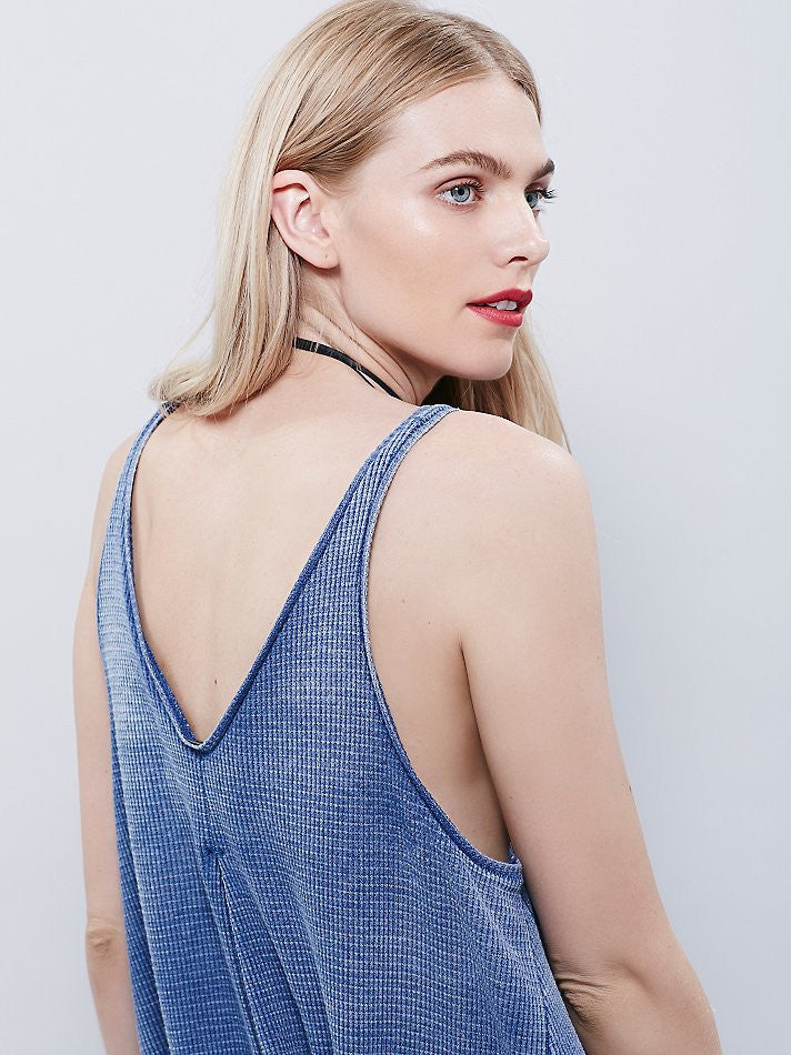 Free People Kitten Tank Blue Ash - Call Me The Breeze