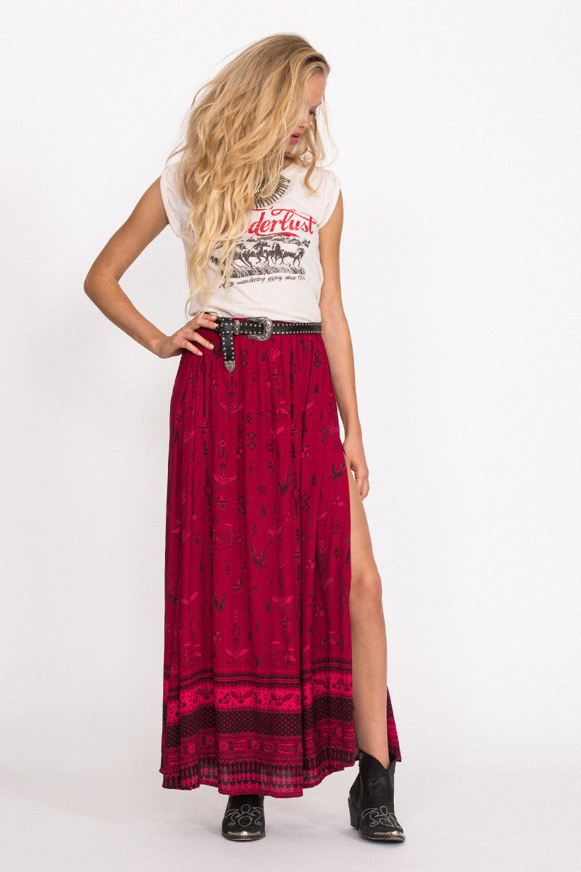 Spell Phoenix Maxi Skirt Magenta - Call Me The Breeze - 3