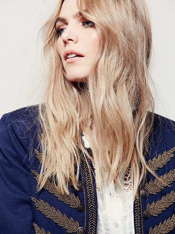 Free People Embellished Band Jacket - Call Me The Breeze - 3