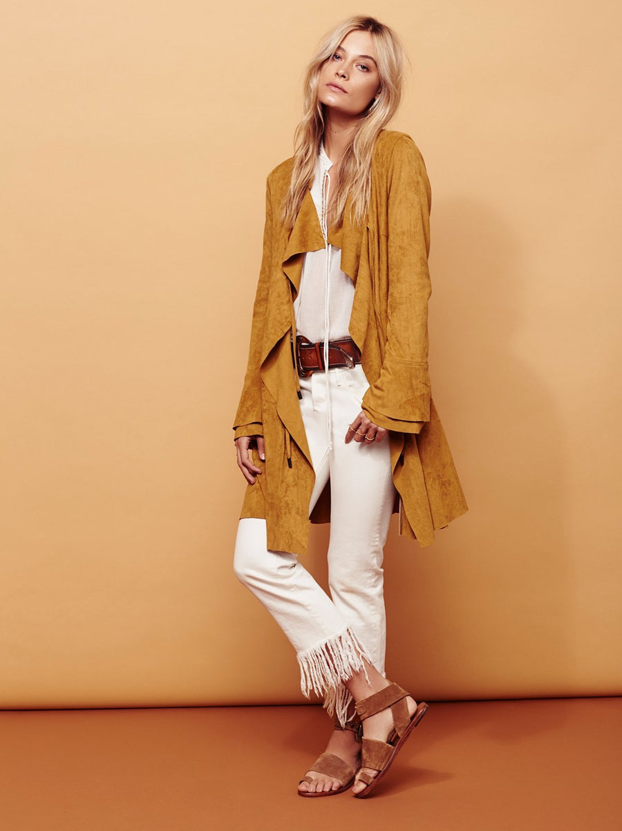 Free People Meadow Jacket Sand