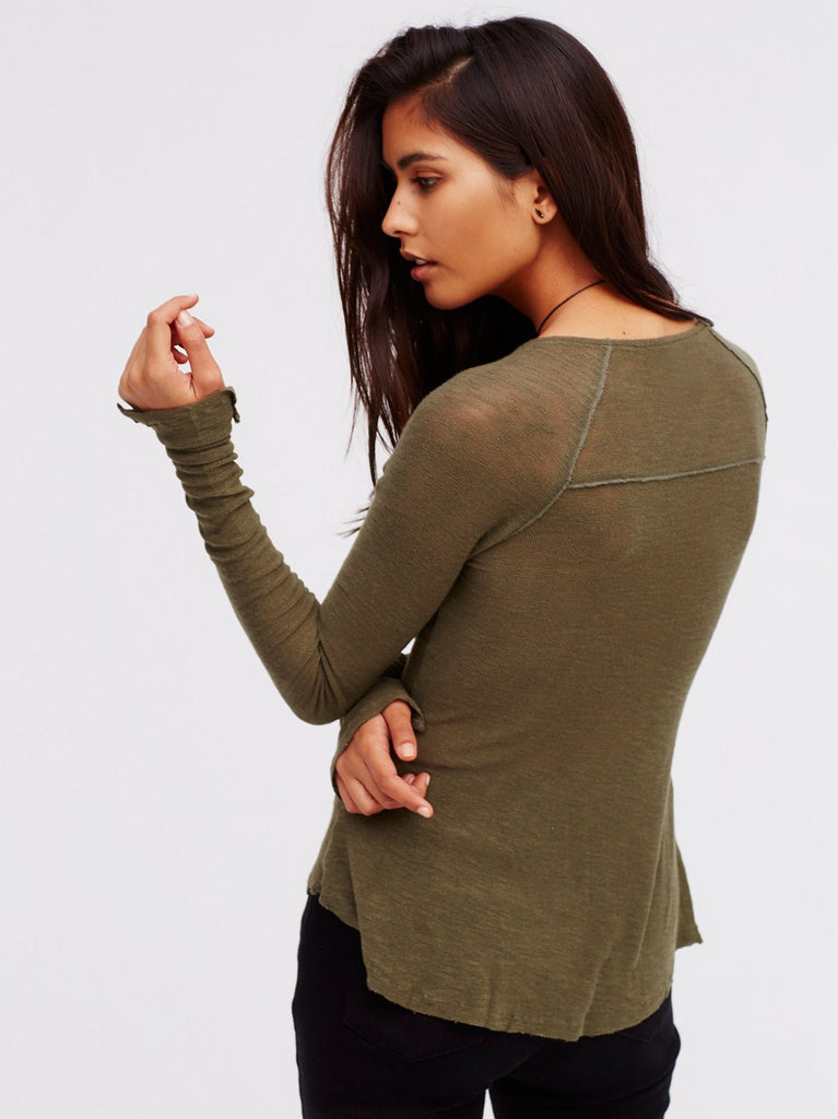Free People Bae Bae Layering Top Olive - Call Me The Breeze - 2