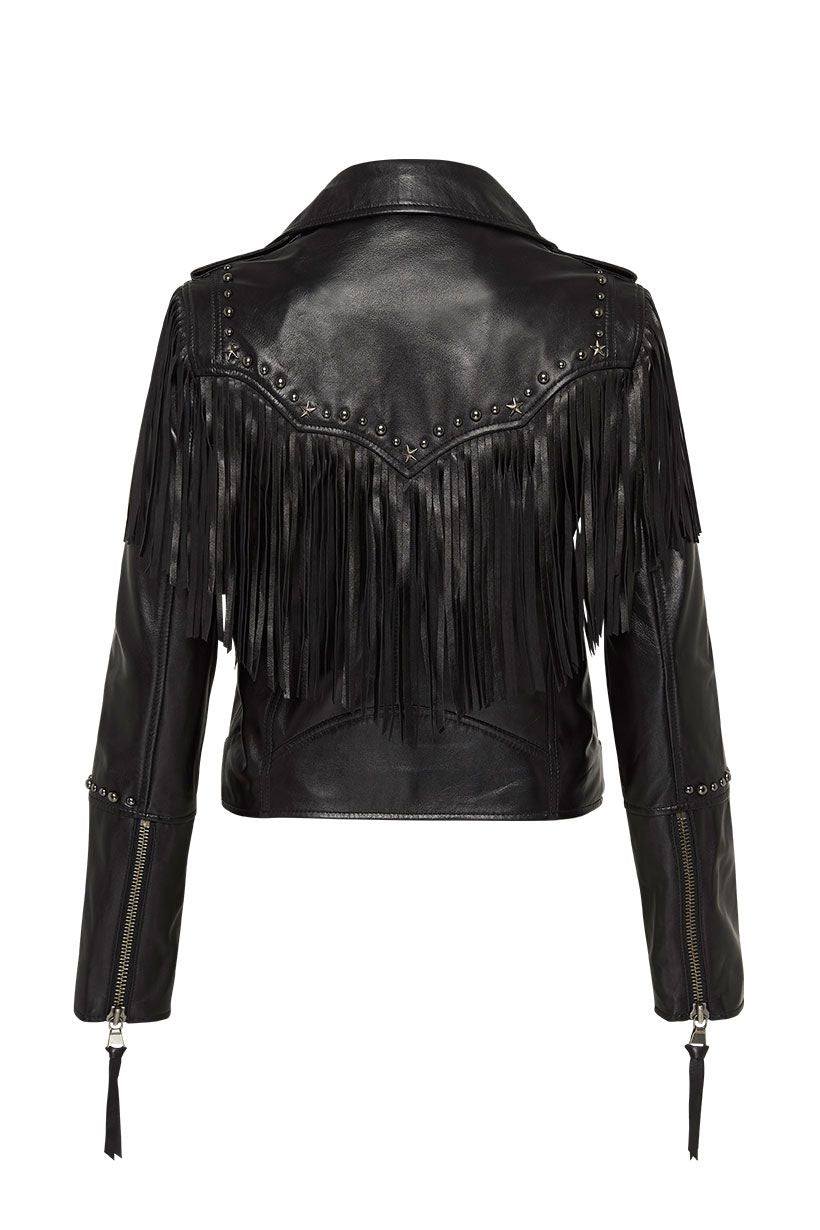 Spell Teadora Leather Jacket Black
