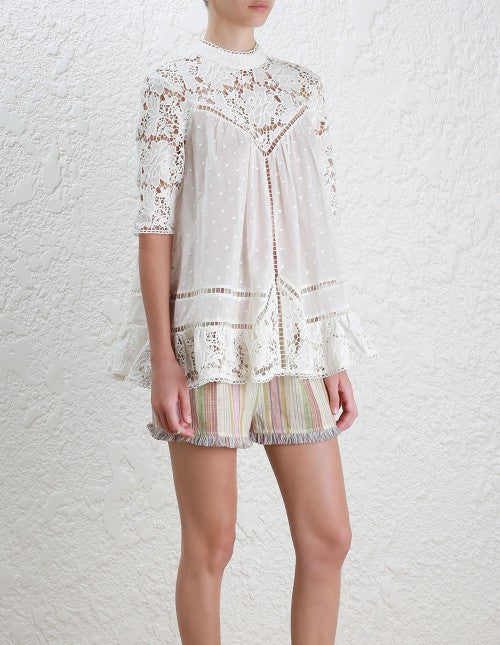 Zimmermann caravan Embroidered Smock Top - Call Me The Breeze - 4