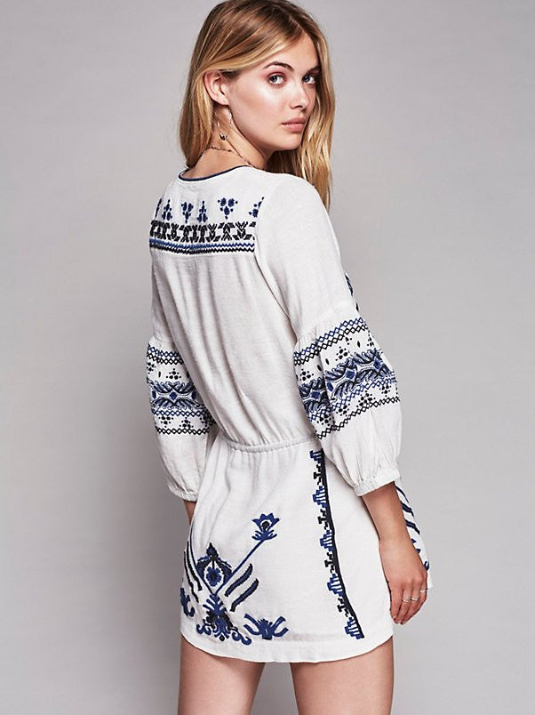 Free People Anouk Embroidered Dress - Call Me The Breeze