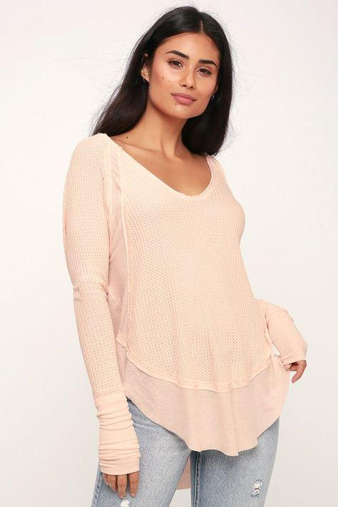 Free People Catalina Thermal Peach