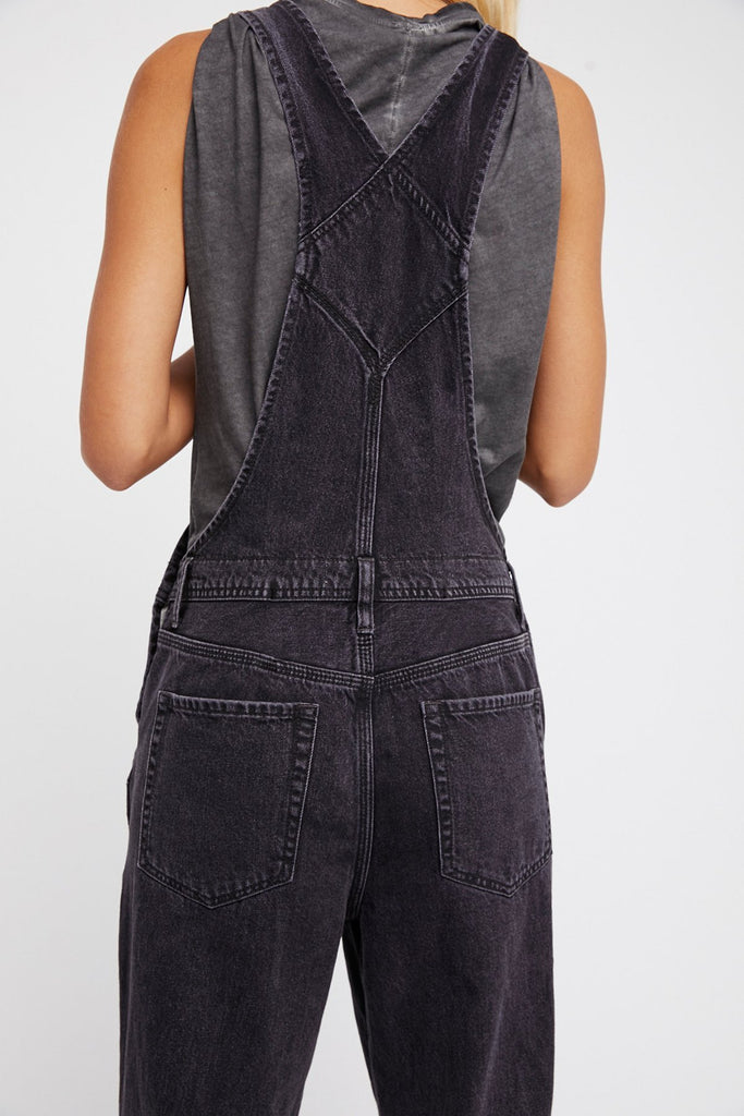 Free People Boyfriend Overall Black