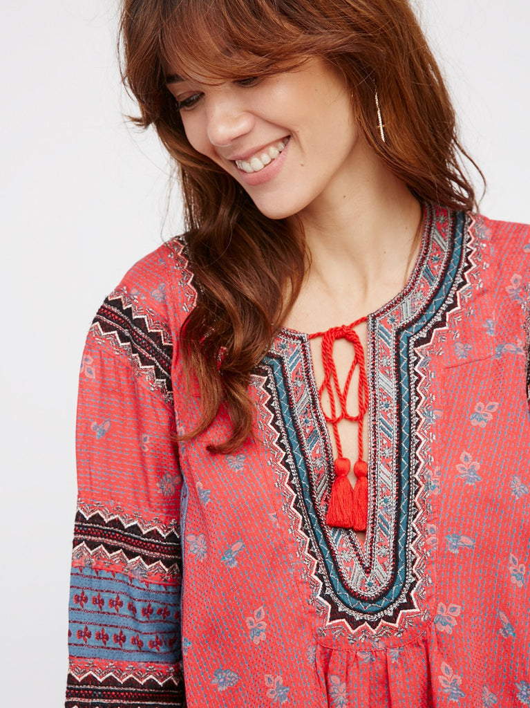 Free People But I Like It Top Red - Call Me The Breeze - 3