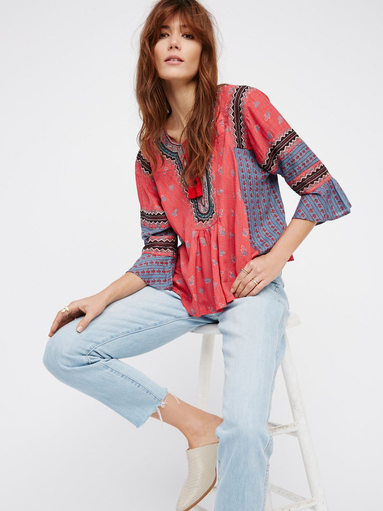 Free People But I Like It Top Red - Call Me The Breeze - 5