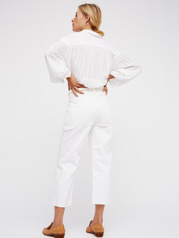Free People Essential Carpenter Crop Pant White