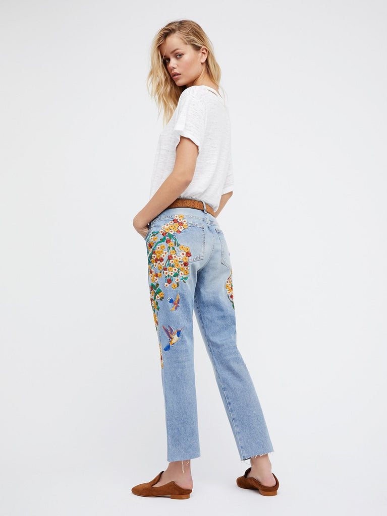 3x1 Blue Bell Embroidered Jean at Free People Clothing Boutique Q2GLRtrh