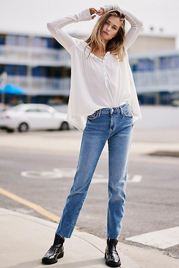Free People Clean Girlfriend Jean