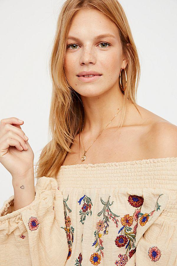 Free People Saachi Smocked Top