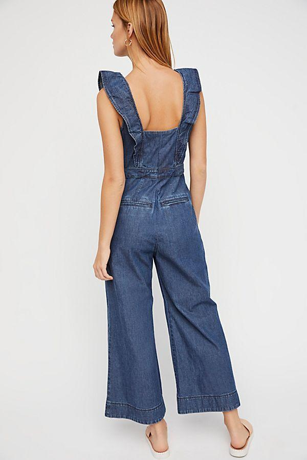 Free People Sun Valley Jumpsuit Dark Indigo