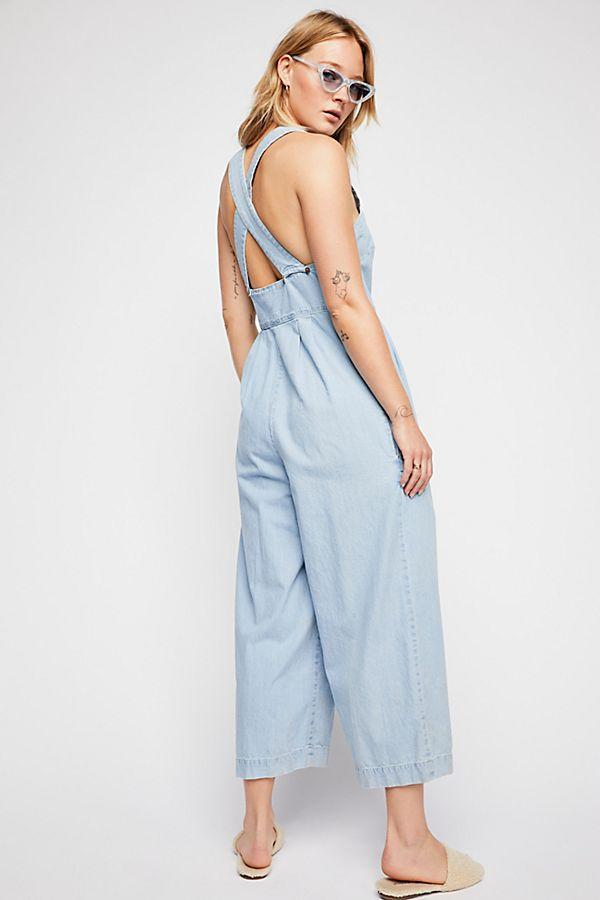 Free People Fara Jumpsuit Indigo