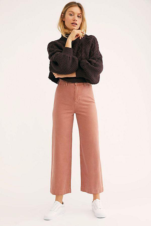 Free People Patti Pant Rose