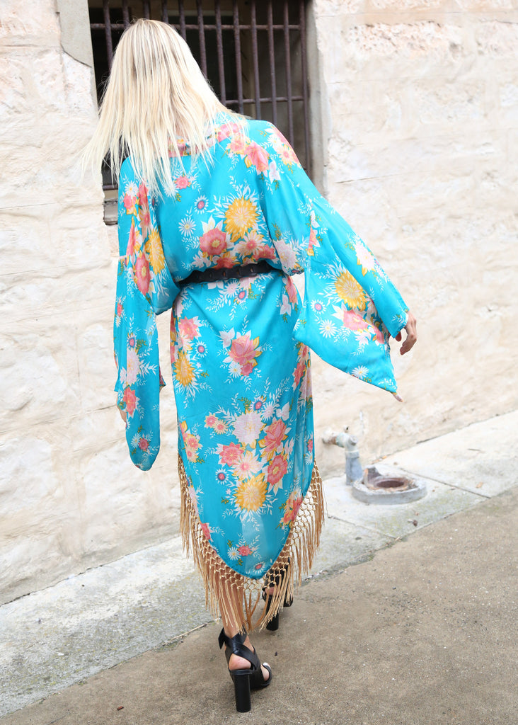 Spell Jagger Kimono Teal Call Me The Breeze