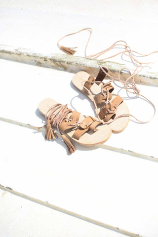 Call Me The Breeze Behati Lace Up Sandals Natural