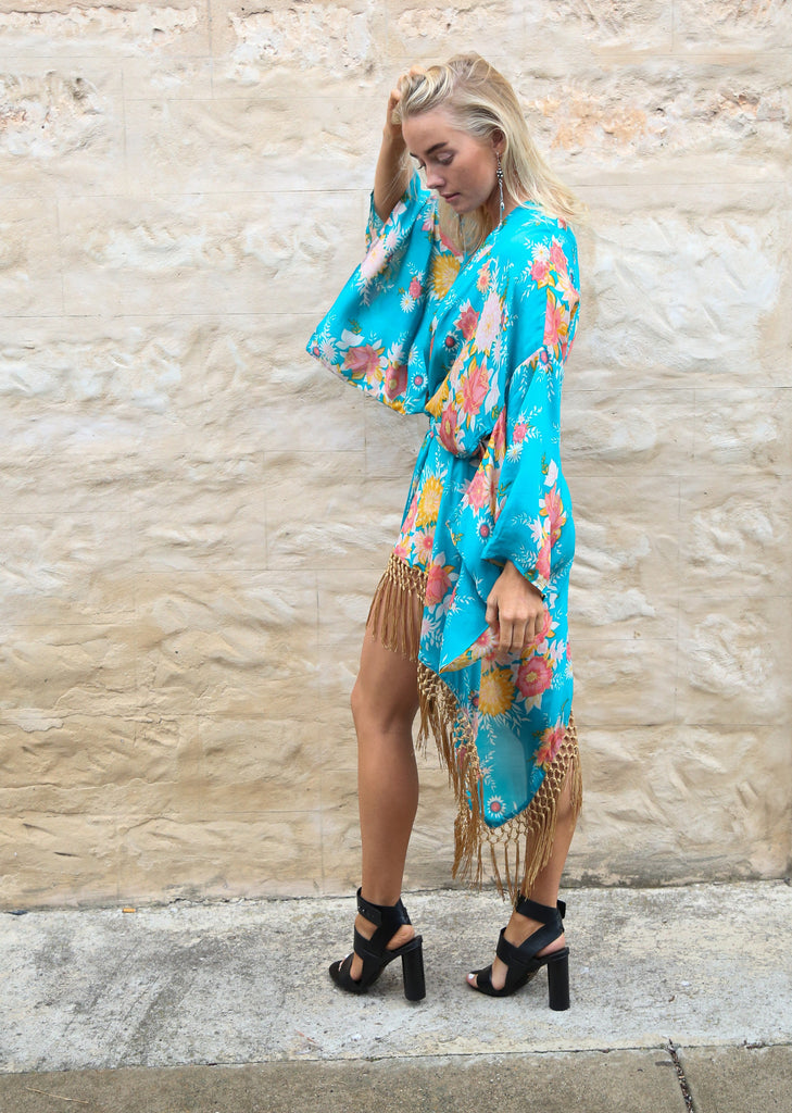 Spell Jagger Kimono Teal - Call Me The Breeze - 5