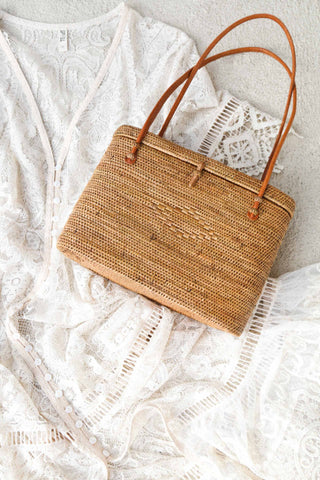 Call Me The Breeze Banjo Basket Bag Midi