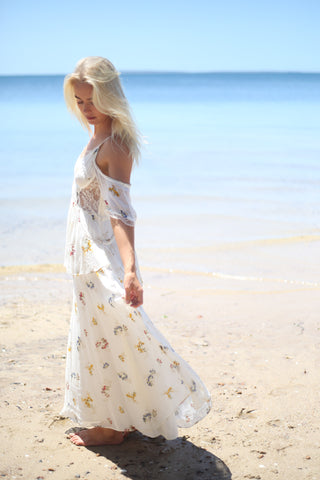 Free People Magnolia Maxi Dress Ivory