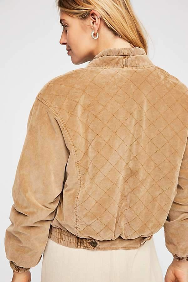 Free People Main Squeeze Jacket Gold