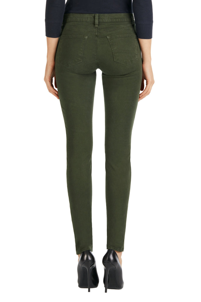 J Brand 485 Mid Rise Luxe Sateen Pant Caledon - Call Me The Breeze - 2