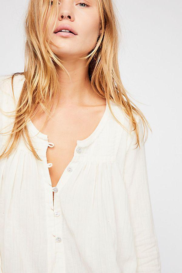 Free People Sand Dune Henley Ivory