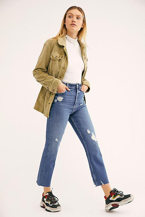 Free People Hi Slim Straight Heart and Soul Wash