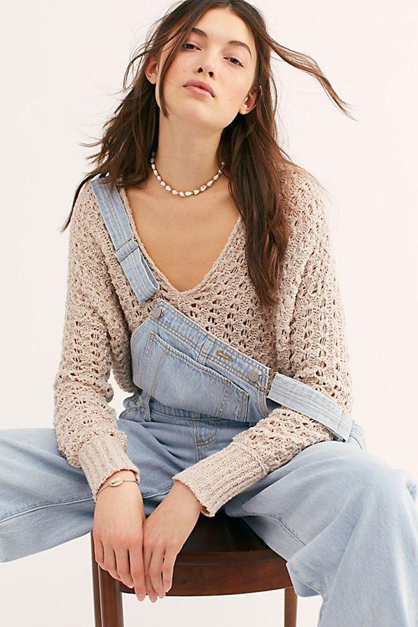 e3e2077b0e Free People Best of You V Neck Neutral ...