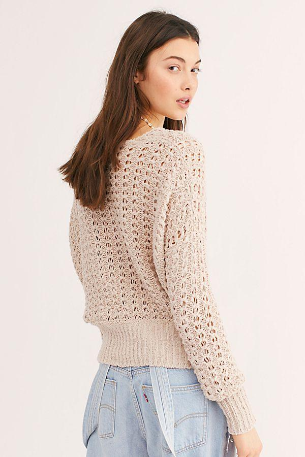 Free People Best of You V Neck Neutral