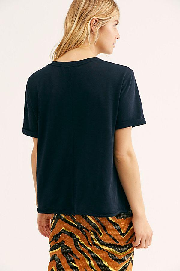 Free People Cassidy Tee Black